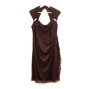 Women Size 12 Dark Purple Open Back Night Dress